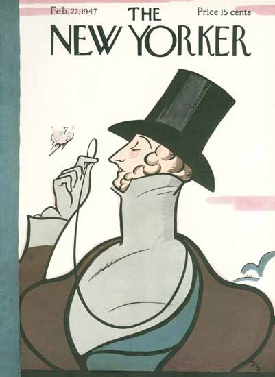 Rea Irvin The New Yorker Magazine Cover 1947_02_22 Copyright | The New Yorker Graphic Art Covers 1946-1970