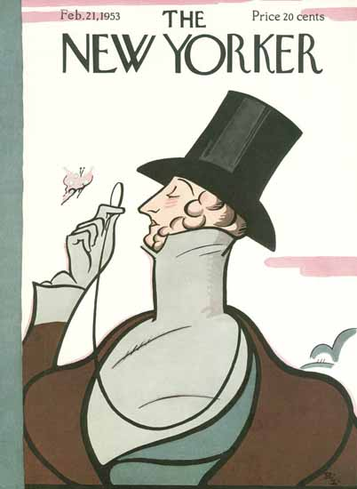 Rea Irvin The New Yorker Magazine Cover 1953_02_21 Copyright | The New Yorker Graphic Art Covers 1946-1970
