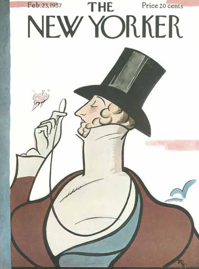 Rea Irvin The New Yorker Magazine Cover 1957_02_23 Copyright   The New Yorker Graphic Art Covers 1946-1970