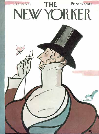 Rea Irvin The New Yorker Magazine Cover 1961_02_18 Copyright | The New Yorker Graphic Art Covers 1946-1970