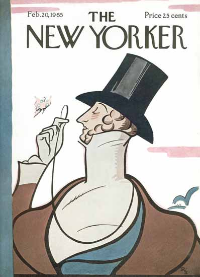 Rea Irvin The New Yorker Magazine Cover 1965_02_20 Copyright | The New Yorker Graphic Art Covers 1946-1970