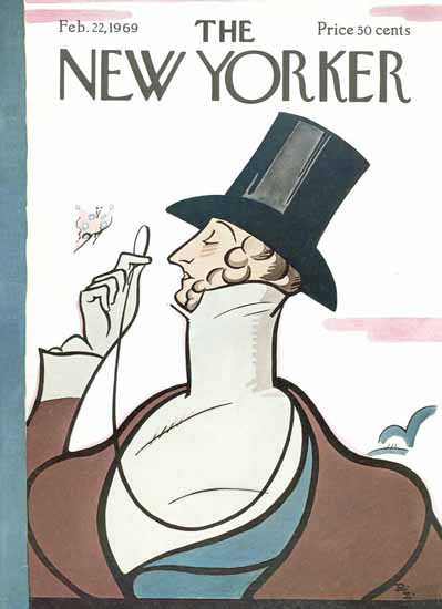 Rea Irvin The New Yorker Magazine Cover 1969_02_22 Copyright | The New Yorker Graphic Art Covers 1946-1970
