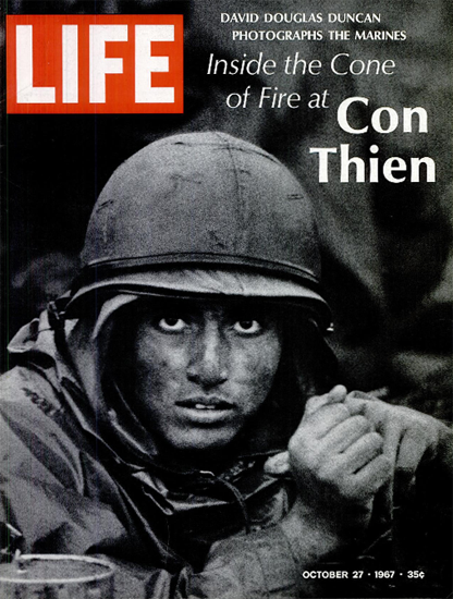 Reality of Vietnam War Without Heroes 27 Oct 1967 CopyR Life Magazine | Life Magazine BW Photo Covers 1936-1970