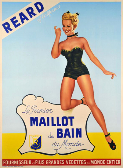 Reard Of California Premier Maillot De Bain 1950s | Sex Appeal Vintage Ads and Covers 1891-1970