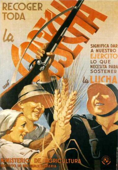 Recoger Toda La Cosecha | Vintage War Propaganda Posters 1891-1970