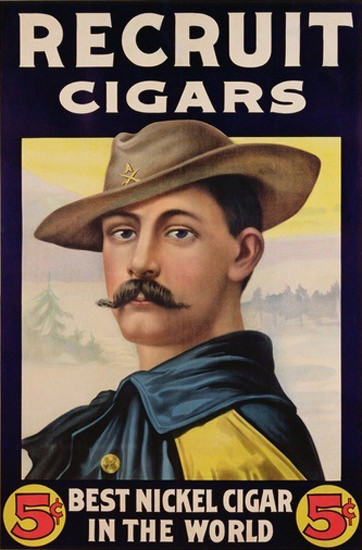 Recruit Cigars Best Nickel Cigar 1899 Soldier | Sex Appeal Vintage Ads and Covers 1891-1970