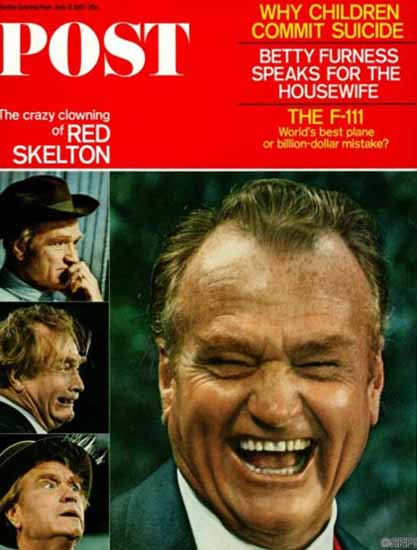 Red Skelton Saturday Evening Post 1967_06_17 | Vintage Ad and Cover Art 1891-1970