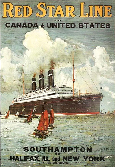 Red Star Line To Canada United States 1910s | Vintage Travel Posters 1891-1970