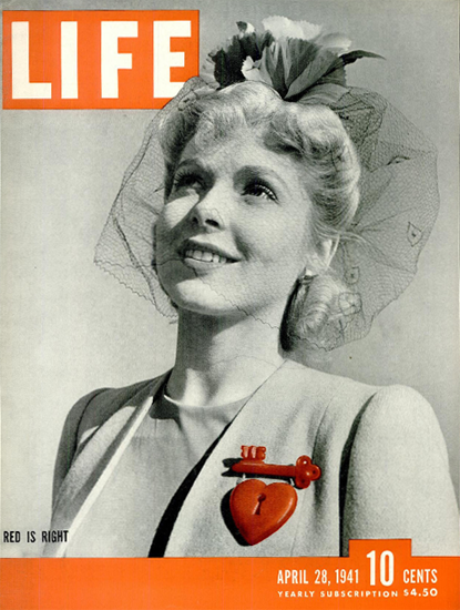 Red is Right 28 Apr 1941 Copyright Life Magazine | Life Magazine BW Photo Covers 1936-1970