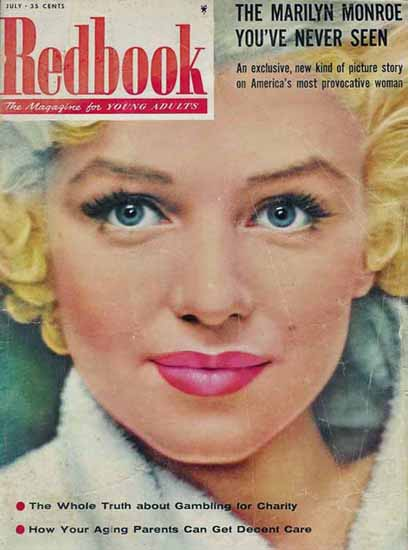 Redbook Magazine Cover Marilyn Monroe Sex Appeal | Sex Appeal Vintage Ads and Covers 1891-1970