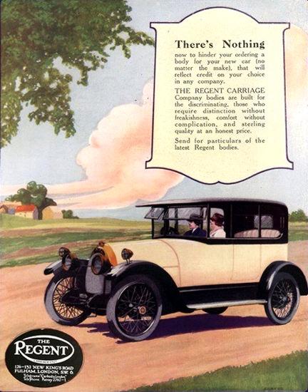 Regent Carriage Automobile London | Vintage Cars 1891-1970