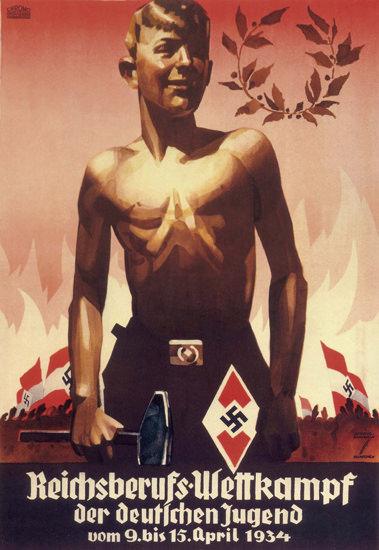 Reichsberufs-Wettkampf 1934 Youth Contest | Vintage War Propaganda Posters 1891-1970