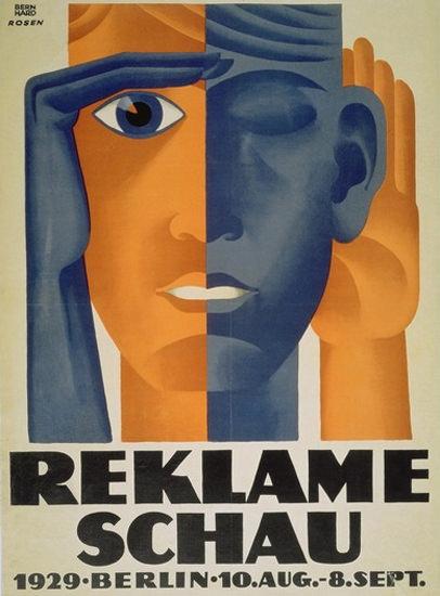 Reklameschau Berlin 1929 Advertising Exhibition | Vintage Ad and Cover Art 1891-1970