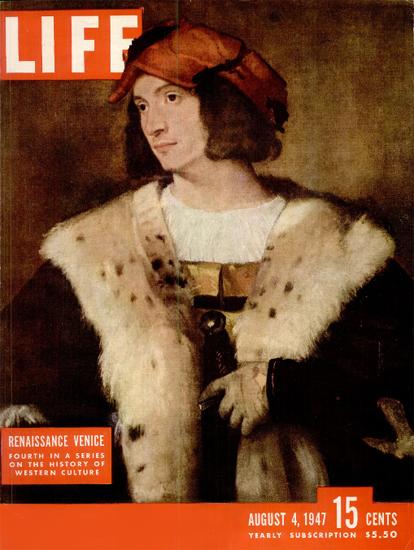 Renaissance Venice 4 Aug 1947 Copyright Life Magazine | Life Magazine Color Photo Covers 1937-1970