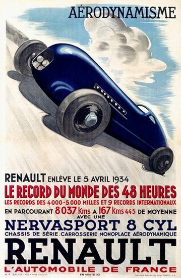 Renault Nervasport Record Du Monde 1934 | Vintage Cars 1891-1970