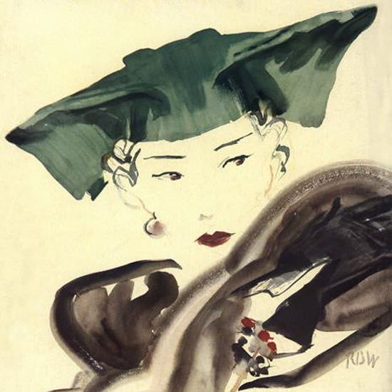 Rene Bouet-Willaumez Vogue Cover 1935-08-01 Copyright crop | Best of Vintage Cover Art 1900-1970