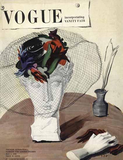 Rene Bouet-Willaumez Vogue Cover 1936-05-01 Copyright | Vogue Magazine Graphic Art Covers 1902-1958