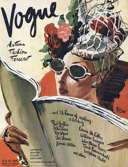 Rene Bouet-Willaumez Vogue Cover 1941-07-15 Copyright Sex Appeal | Sex Appeal Vintage Ads and Covers 1891-1970