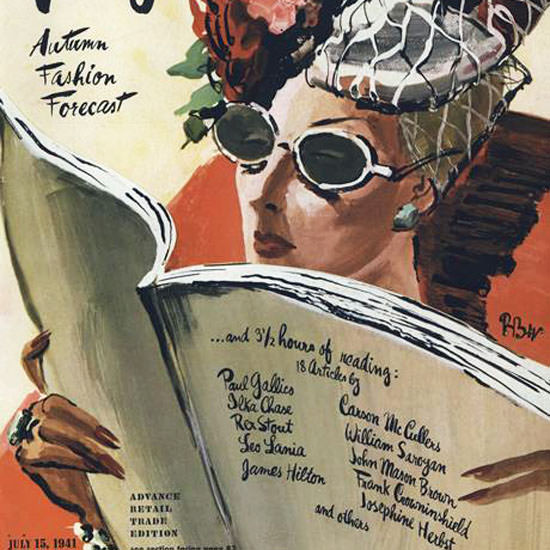 Rene Bouet-Willaumez Vogue Cover 1941-07-15 Copyright crop | Best of Vintage Cover Art 1900-1970