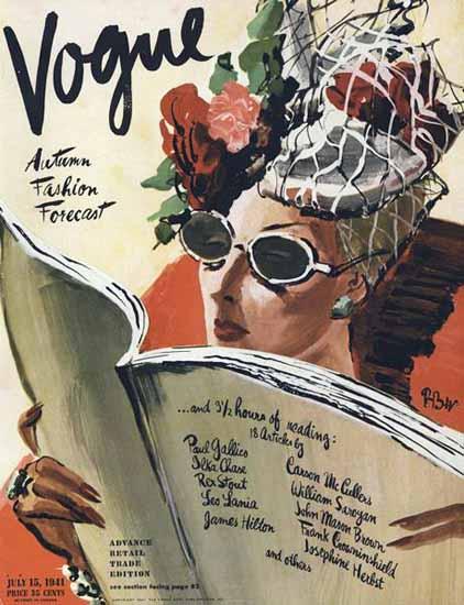 Rene Bouet-Willaumez Vogue Cover 1941-07-15 Copyright | Vogue Magazine Graphic Art Covers 1902-1958