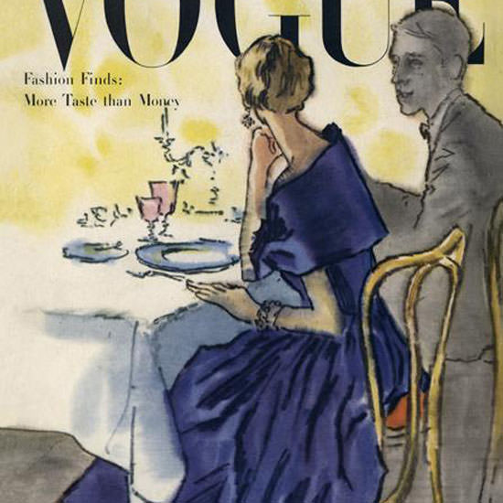 Rene R Bouche Vogue Cover 1947-11-01 Copyright crop | Best of 1940s Ad and Cover Art