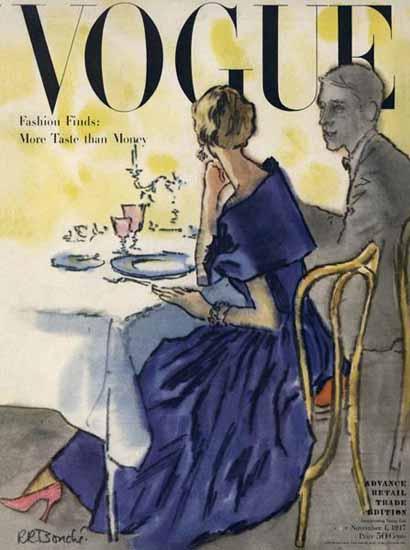 Rene R Bouche Vogue Cover 1947-11-01 Copyright | Vogue Magazine Graphic Art Covers 1902-1958