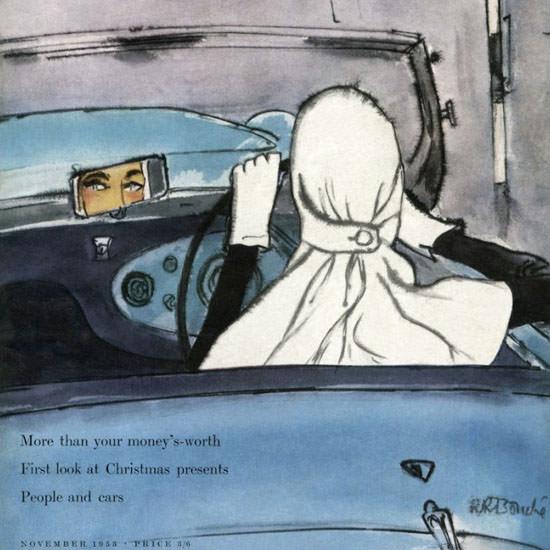 Rene R Bouche Vogue Cover 1953-11 Copyright crop | Best of Vintage Cover Art 1900-1970