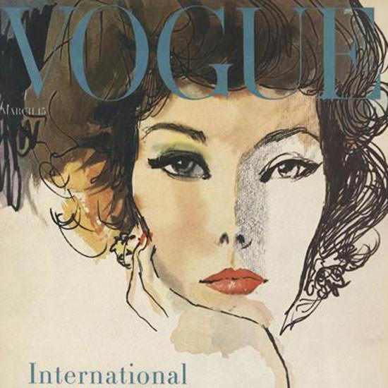 Rene R Bouche Vogue Cover 1958-03-15 Copyright crop   Best of Vintage Cover Art 1900-1970