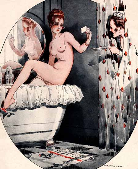Rene Vincent La Vie Parisienne 1917 Suzanne Au Bain page Sex Appeal | Sex Appeal Vintage Ads and Covers 1891-1970