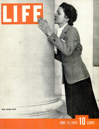 Reno Divorce Myth 21 Jun 1937 Copyright Life Magazine | Life Magazine BW Photo Covers 1936-1970