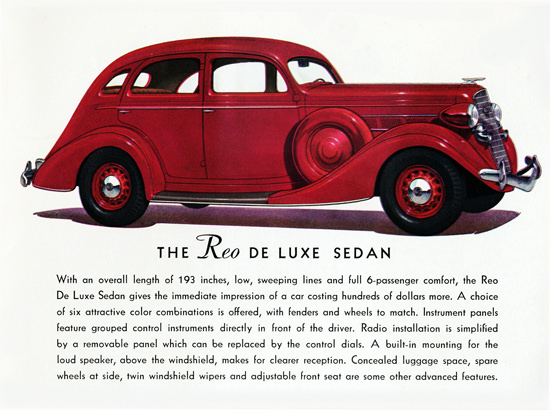 Reo De Luxe Sedan 1935 Radio Installation | Vintage Cars 1891-1970