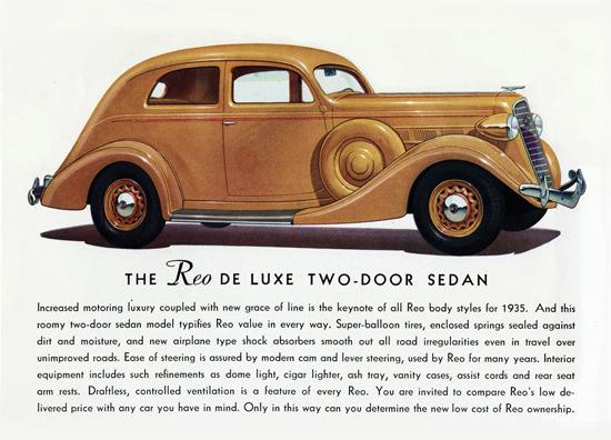 Reo De Luxe Two Door Sedan 1935   Vintage Cars 1891-1970