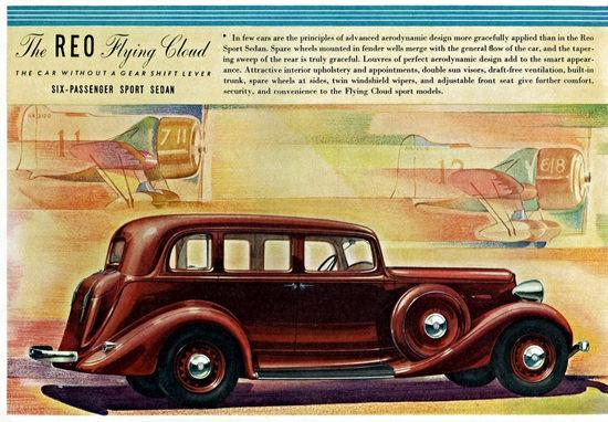 Reo Flying Cloud Six P Sport Sedan 1934   Vintage Cars 1891-1970