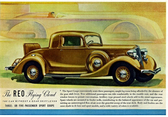 Reo Flying Cloud Three P Sport Coupe 1934 | Vintage Cars 1891-1970