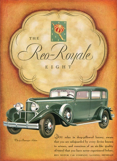 Reo Royale Eight Car Company Lansing Michigan | Vintage Cars 1891-1970