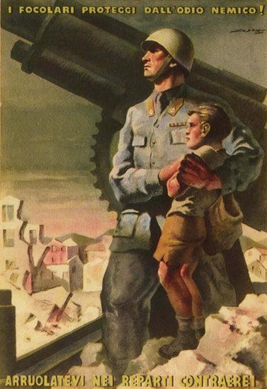 Reparti Conttraerei Italy Italia   Vintage War Propaganda Posters 1891-1970