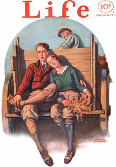 Revere F Wistehuff Life Humor Magazine 1931-08-21 Copyright | Life Magazine Graphic Art Covers 1891-1936