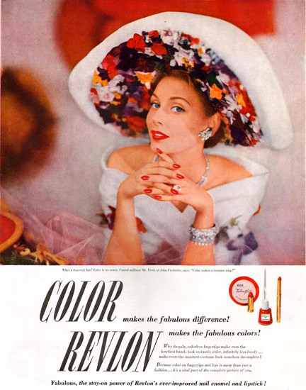Revlon Color Beauty 1949 | Sex Appeal Vintage Ads and Covers 1891-1970