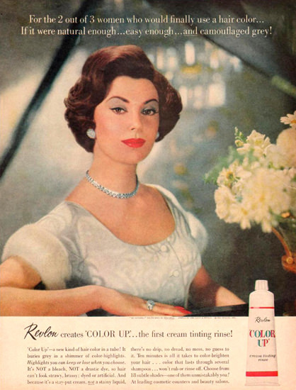 Revlon Color Up Beauty 1961   Sex Appeal Vintage Ads and Covers 1891-1970