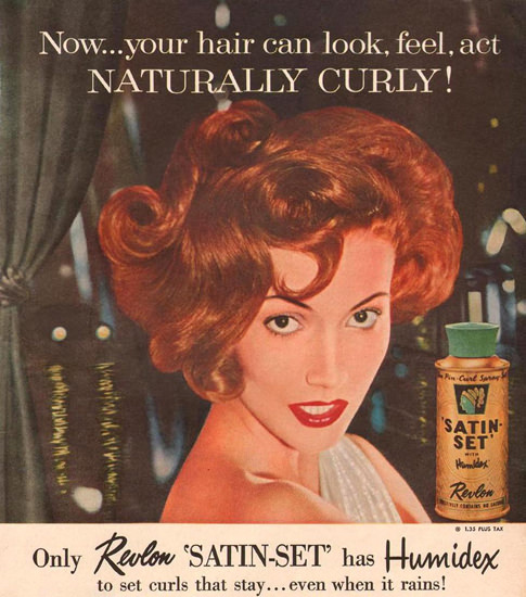Revlon Satin-Set Beauty 1957 | Sex Appeal Vintage Ads and Covers 1891-1970