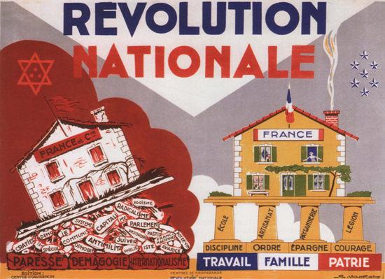 Revolution Nationale Hostility Toward Strangers | Vintage War Propaganda Posters 1891-1970