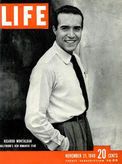 Ricardo Montalban in Hollywood 21 Nov 1949 Copyright Life Magazine   Life Magazine BW Photo Covers 1936-1970