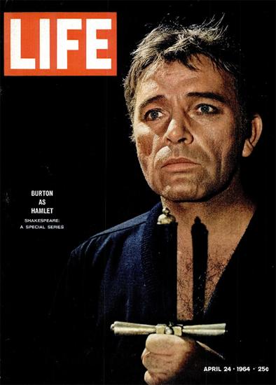 Richard Burton Hamlet Shakespeare 24 Apr 1964 Copyright Life Magazine | Life Magazine Color Photo Covers 1937-1970