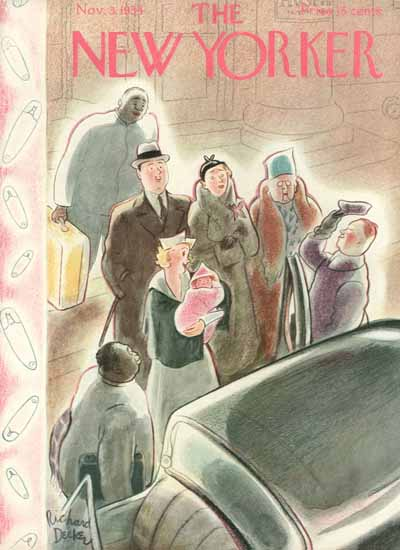 Richard Decker The New Yorker 1934_11_03 Copyright   The New Yorker Graphic Art Covers 1925-1945