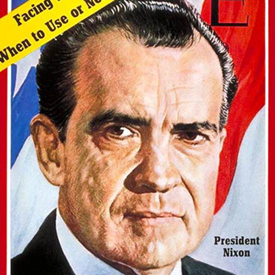 Richard Nixon Time Magazine 1970-10 by Boris Chaliapin crop | Best of Vintage Cover Art 1900-1970