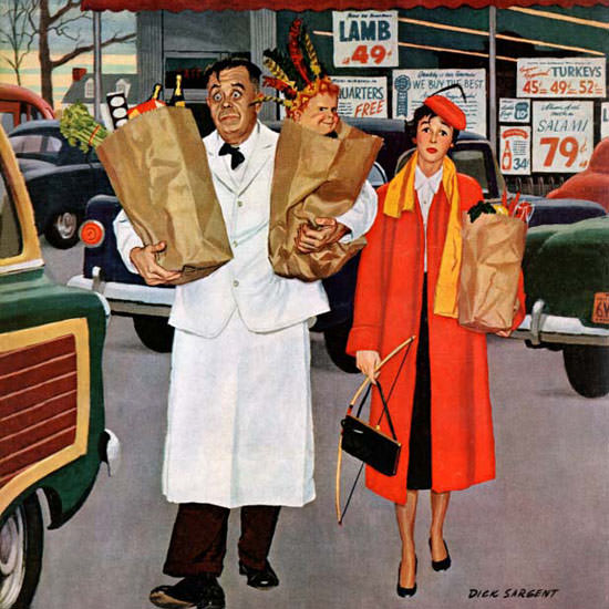 Richard Sargent Saturday Evening Post 1956_04_14 Copyright crop | Best of Vintage Cover Art 1900-1970