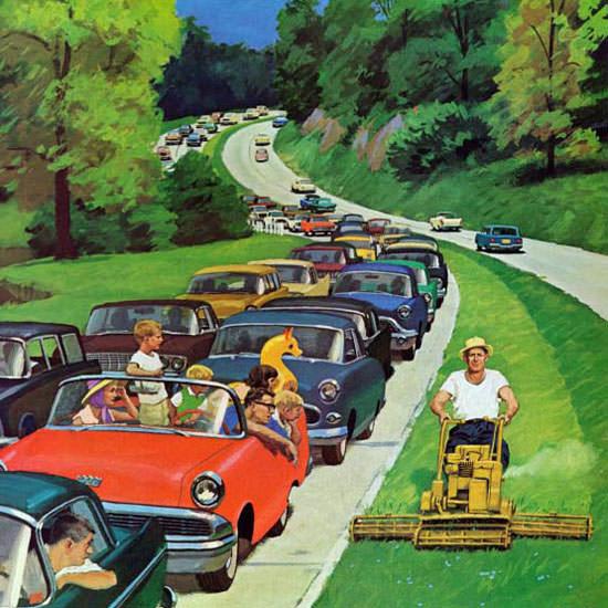 Richard Sargent Saturday Evening Post 1962_06_02 Copyright crop | Best of Vintage Cover Art 1900-1970