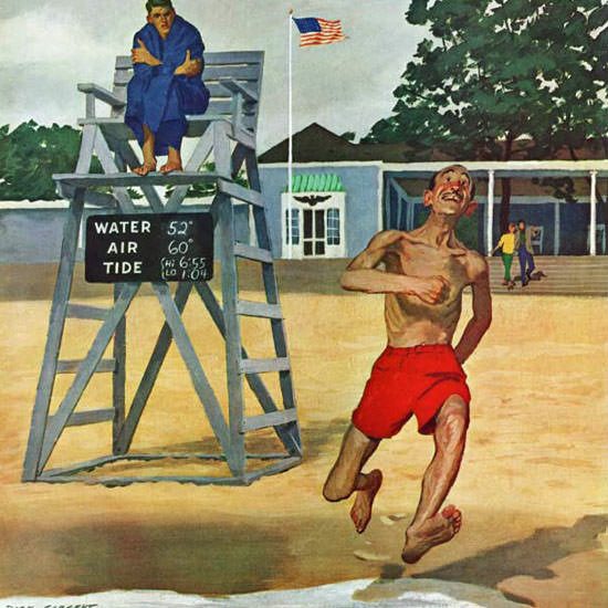 Richard Sargent Saturday Evening Post Cold 1961_06_17 Copyright crop | Best of Vintage Cover Art 1900-1970