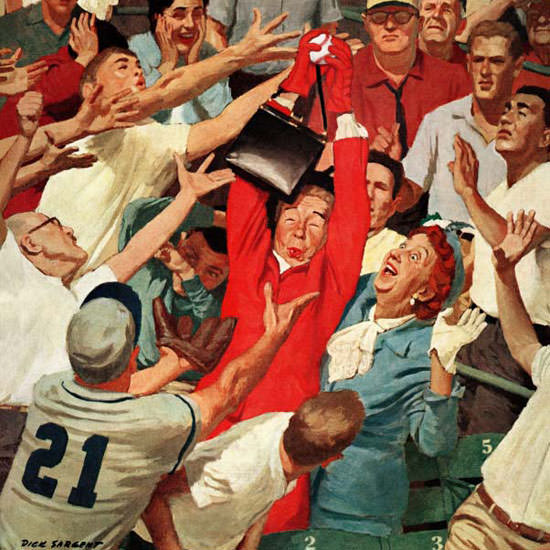 Richard Sargent Saturday Evening Post FlyBall 1960_04_23 Copyright crop | Best of Vintage Cover Art 1900-1970