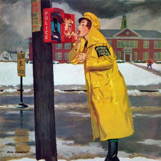 Richard Sargent Saturday Evening Post Guard 1960_12_03 Copyright crop | Best of Vintage Cover Art 1900-1970